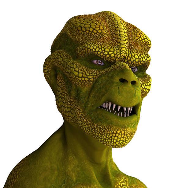 Reptilian Alien Portrait stock photo
