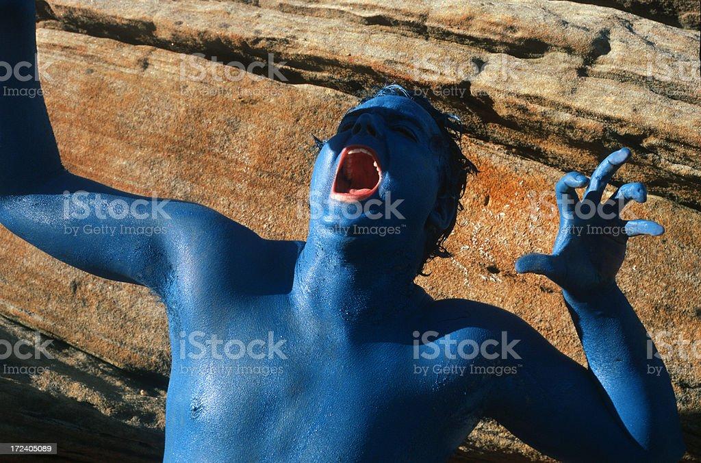 Reptilian Man 3 royalty-free stock photo