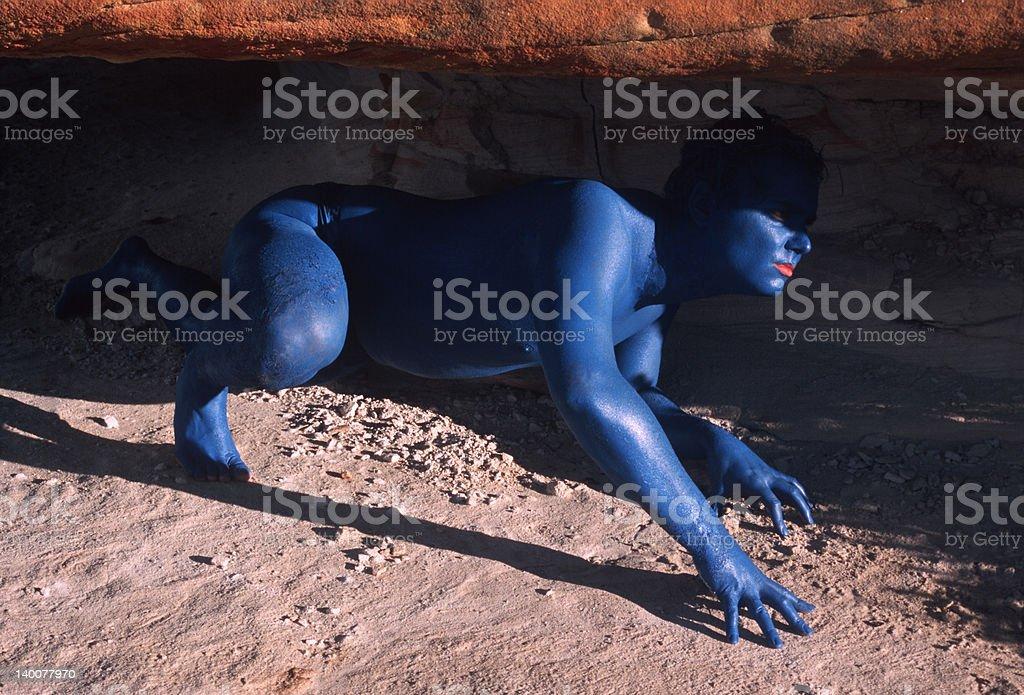 Reptilian Man royalty-free stock photo
