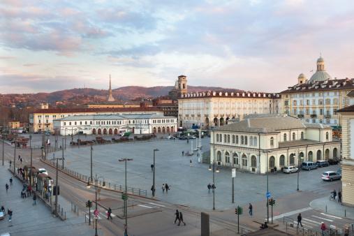 Repubblica square, Porta Palazzo market, the largest in Europe