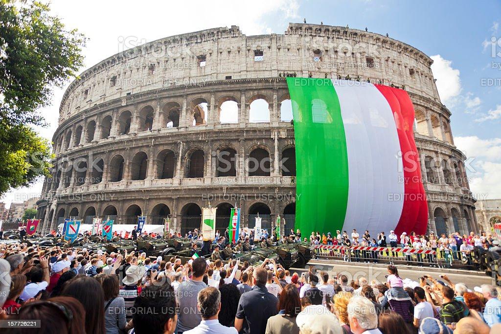 Republic Day In Rome. stock photo