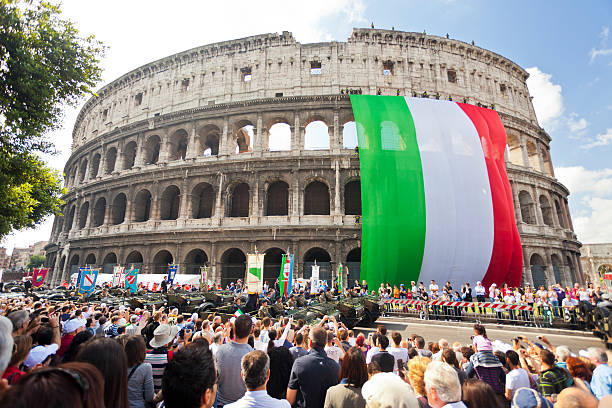 Republic Day In Rome.  military parade stock pictures, royalty-free photos & images