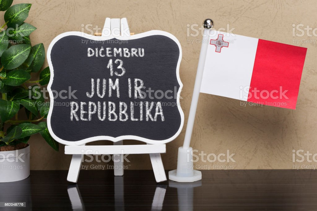 Republic day -National holiday in Malta stock photo