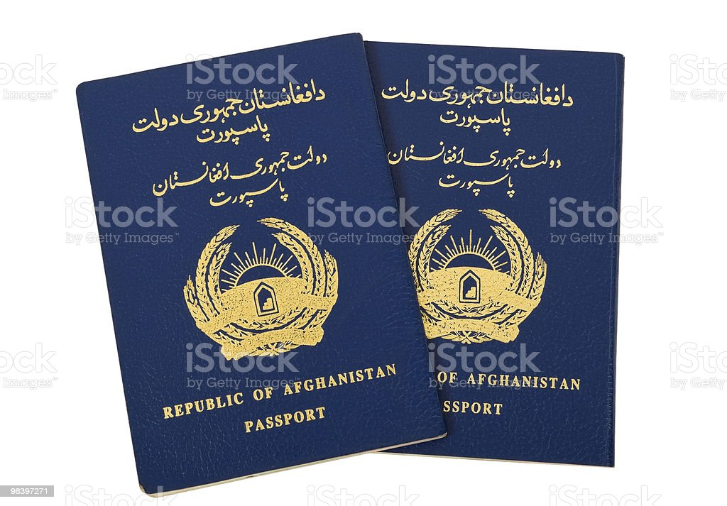 Republic of Afghanistan Passport royalty-free stock photo