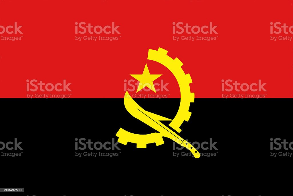 Republic of Angola National Flag stock photo