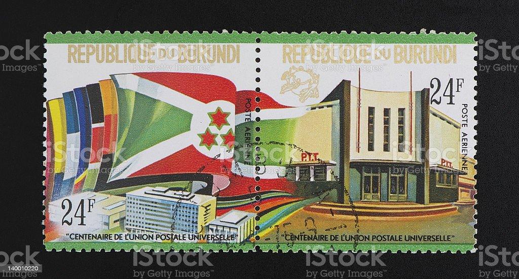 Republic of Burundi postage stamp stock photo
