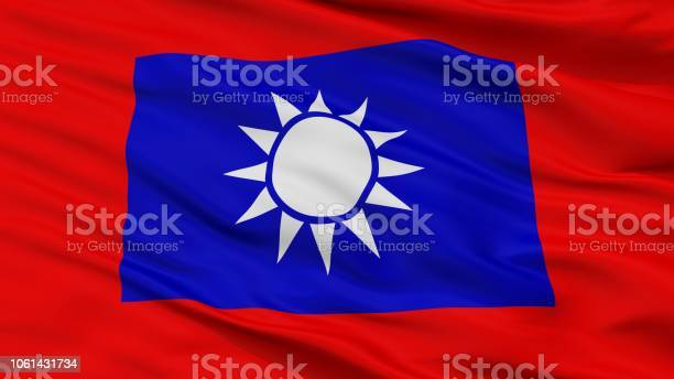Republic Of China Army Flag Closeup