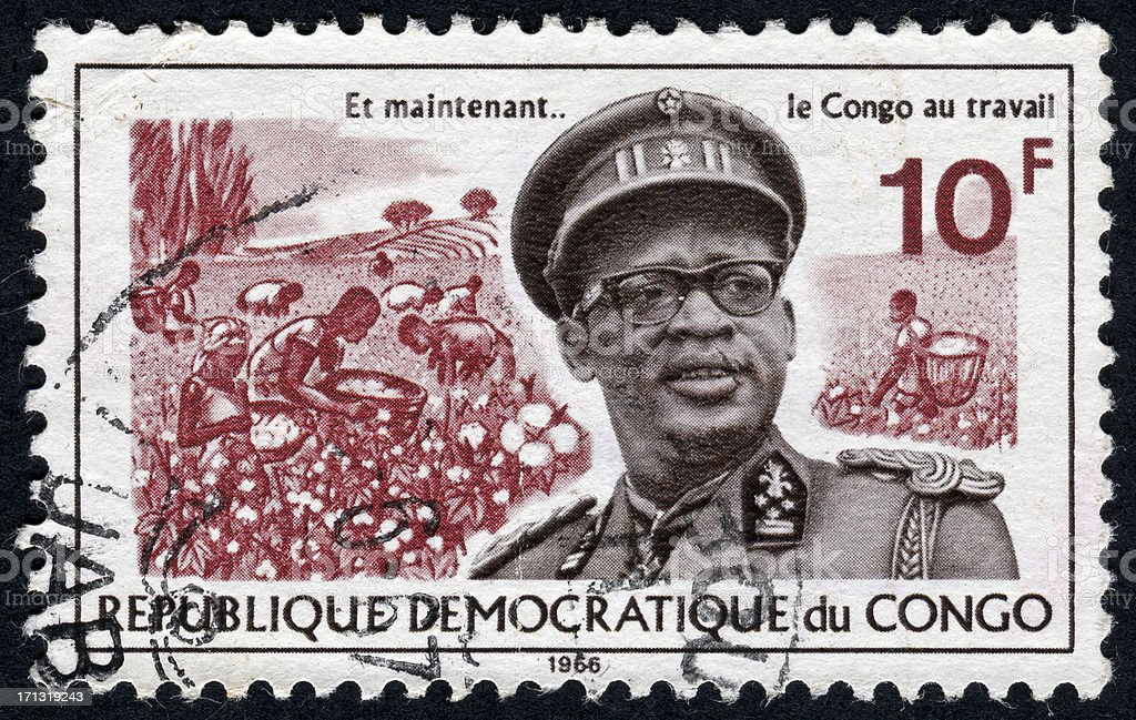Republic Of Congo Stamp royalty-free stock photo