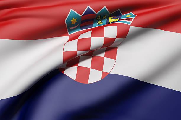 Republic of Croatia flag - foto de acervo