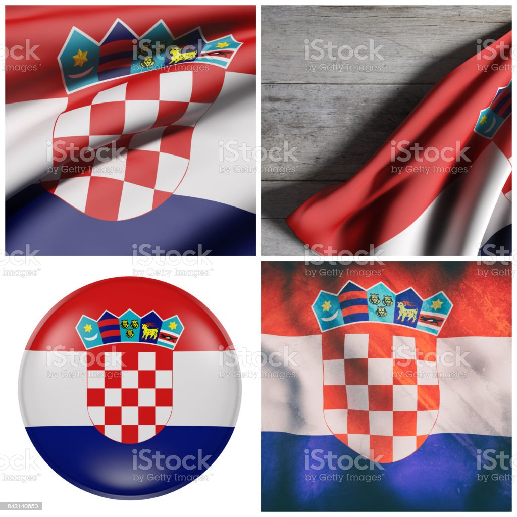 Republic of Croatia flag - foto stock