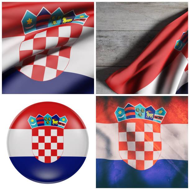 Bandeira da República da Croácia - foto de acervo