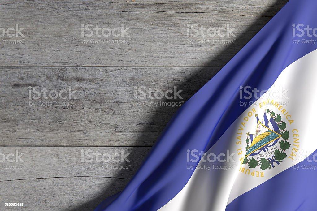 Republic of El Salvador flag stock photo