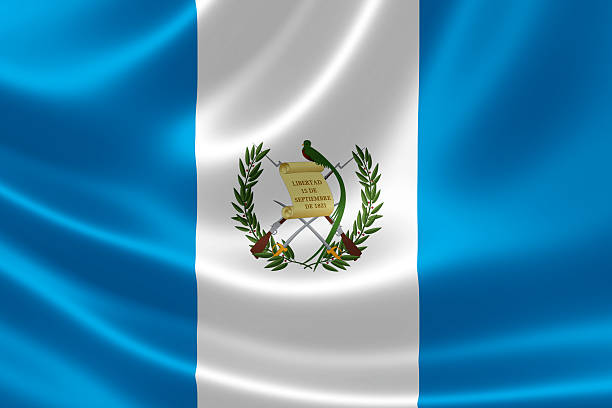 República de Guatemala la bandera nacional - foto de stock