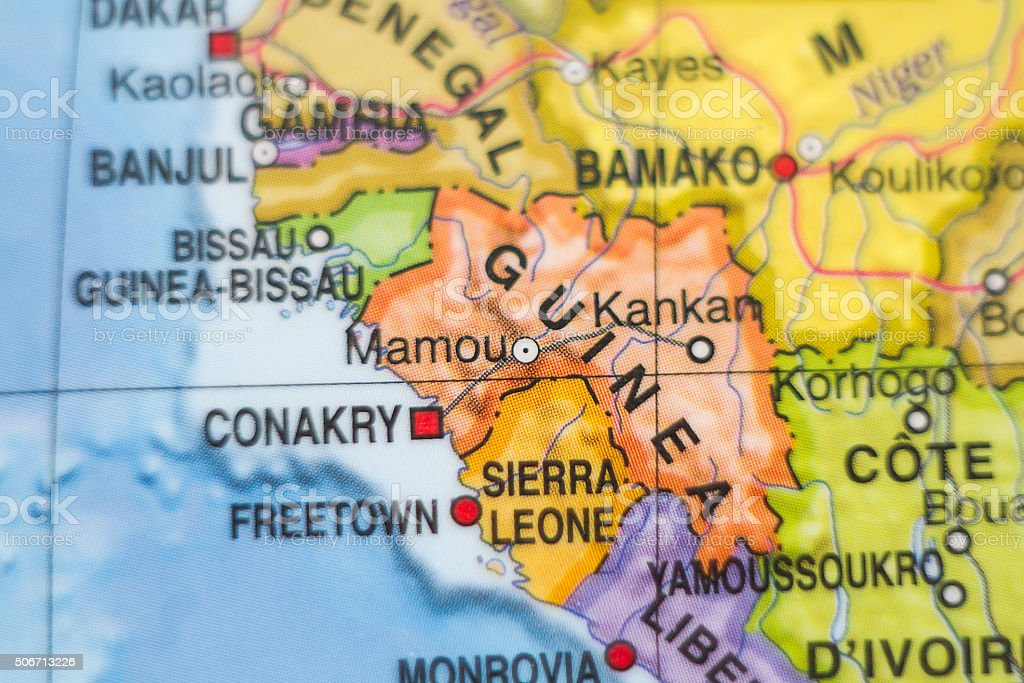 Republic of Guinea  country map . stock photo
