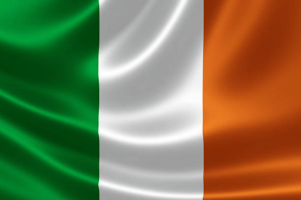 Republic of Ireland's National Flag stock photo