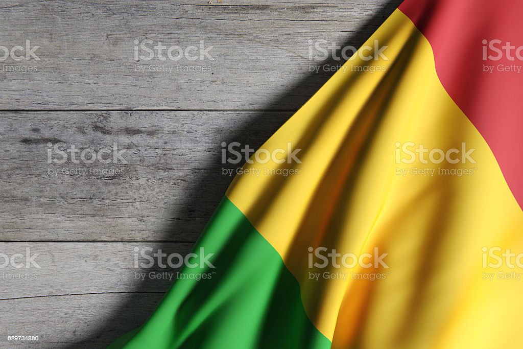 Republic of Mali flag waving stock photo