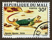 Republic of Mali stamps: Rainbow lizard