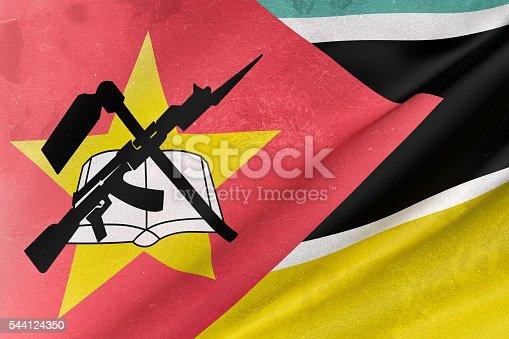 istock Republic of Mozambique flag waving 544124350