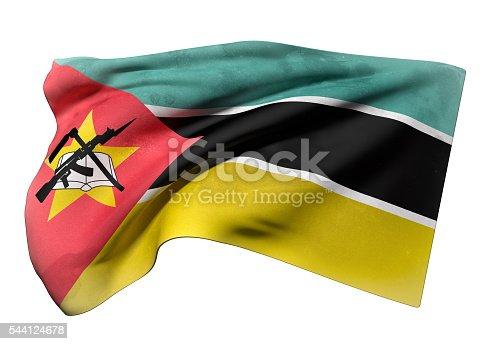 istock Republic of Mozambique flag waving 544124678