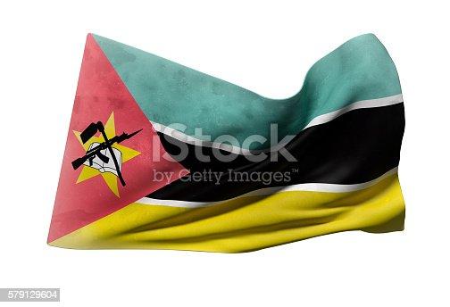 istock Republic of Mozambique flag waving 579129604