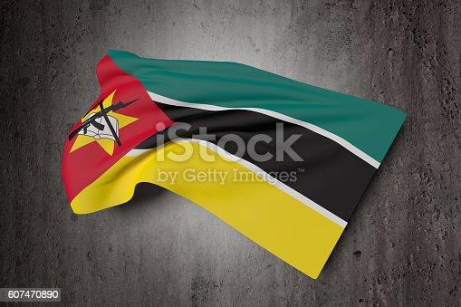 istock Republic of Mozambique flag waving 607470890