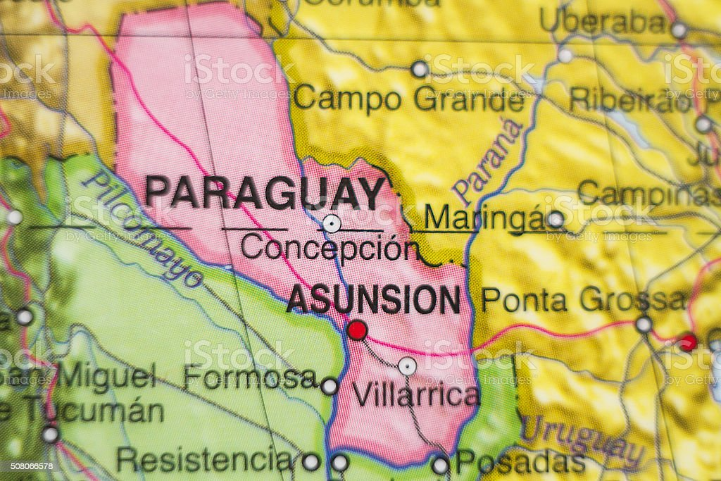 Republic Of Paraguay Country Map Stock Photo More Pictures of