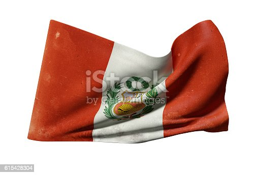 istock Republic of Peru flag waving 615428304