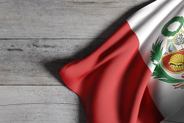 Republic of Peru flag waving - foto de stock