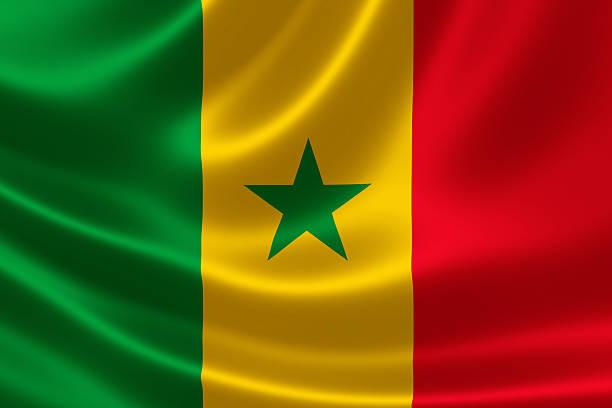 República do Senegal da bandeira nacional - foto de acervo
