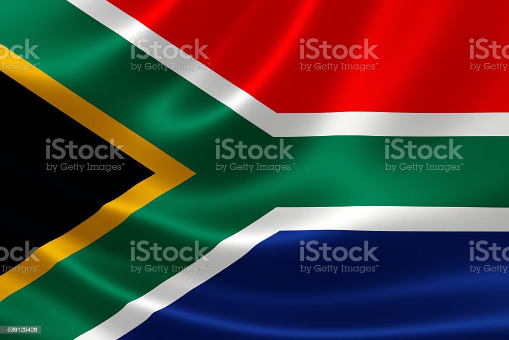 Republic of South Africa's National Flag stock photo
