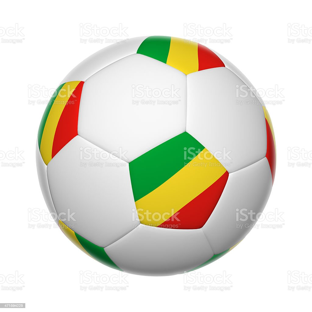 Republic of the Congo soccer ball stock photo