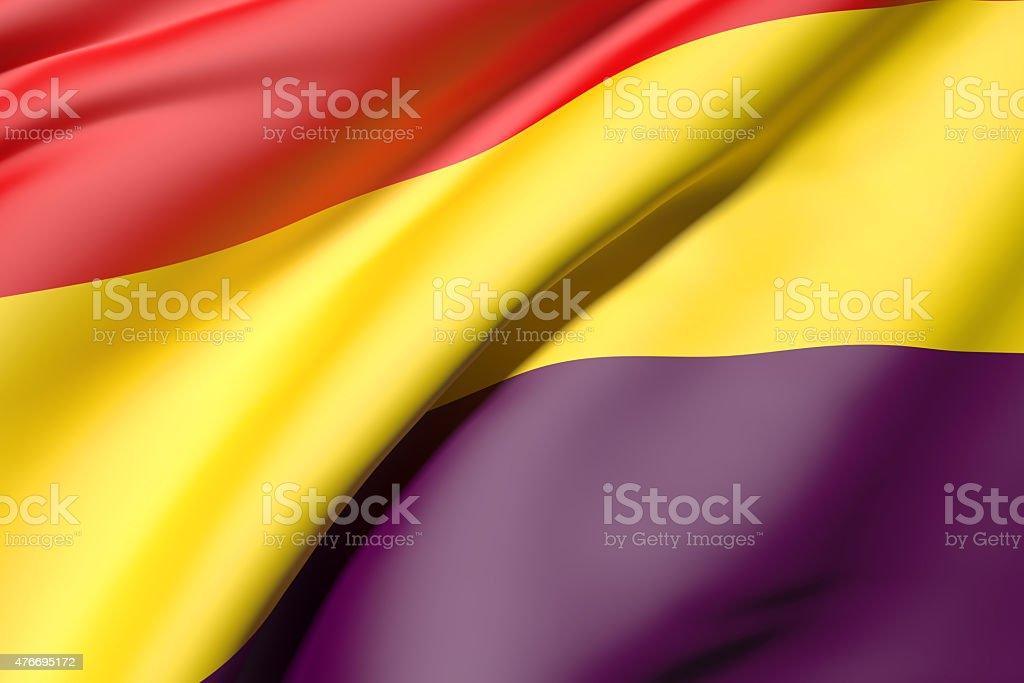 republic spain flag stock photo