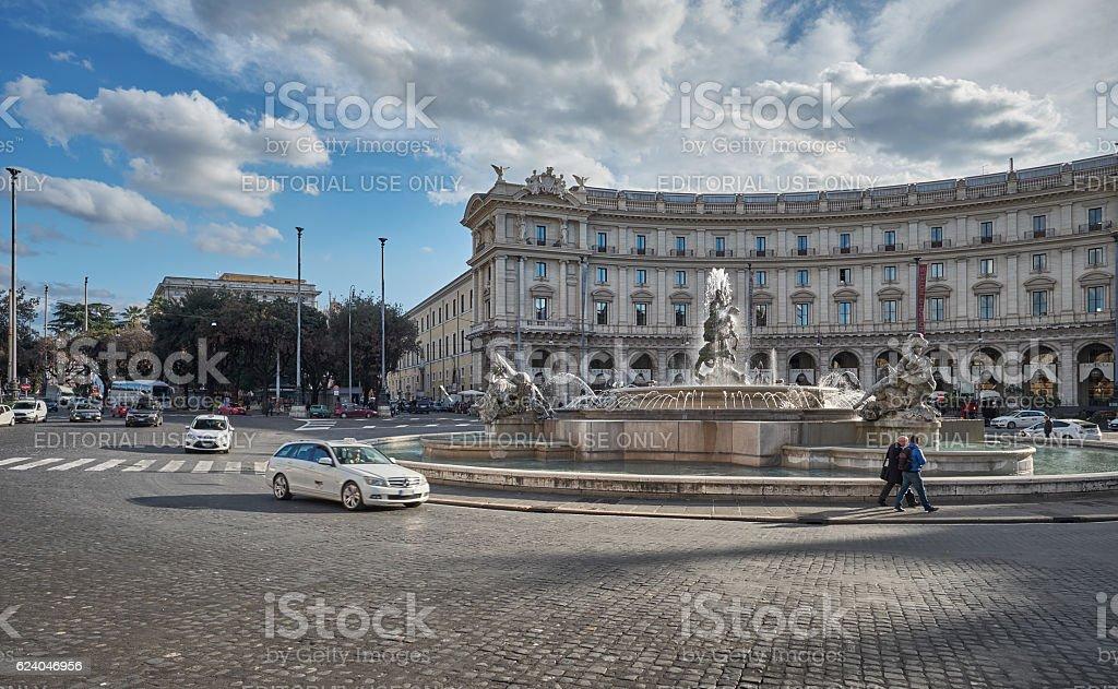 Republic Square, Rome stock photo