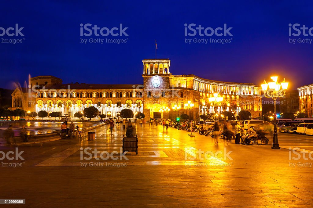 Republic Square, Yerevan stock photo