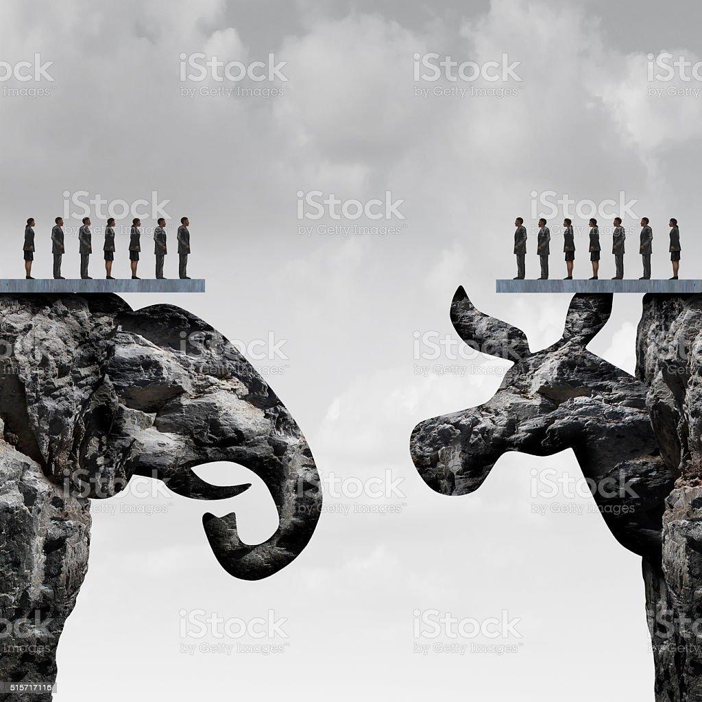 Republican Democrat stock photo
