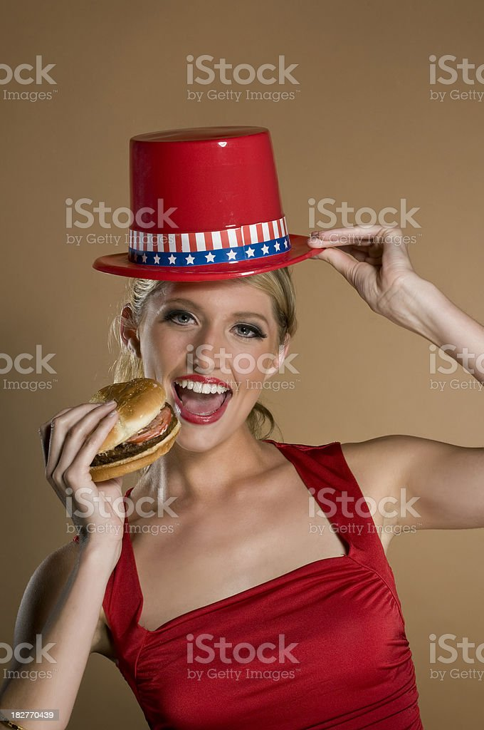 republican girl royalty-free stock photo