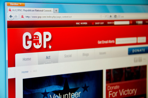 Republican Party Website Stock Photo - Download Image Now