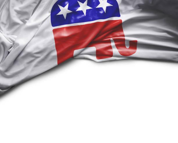 usa republican waving flag - республиканская партия сша стоковые фото и изображения