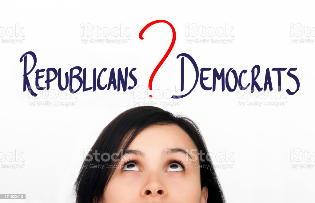 Republicans or Democrats royalty-free stock photo