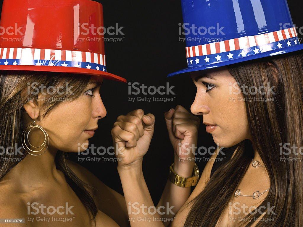 Republicans versus Democrats royalty-free stock photo