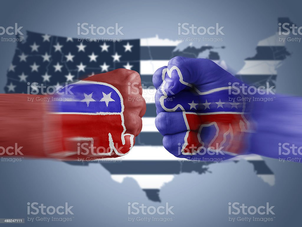 Republicans x Democrats stock photo