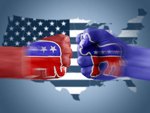 republicans x democrats - республиканская партия сша стоковые фото и изображения