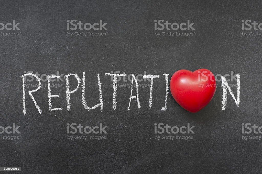 reputation stock photo