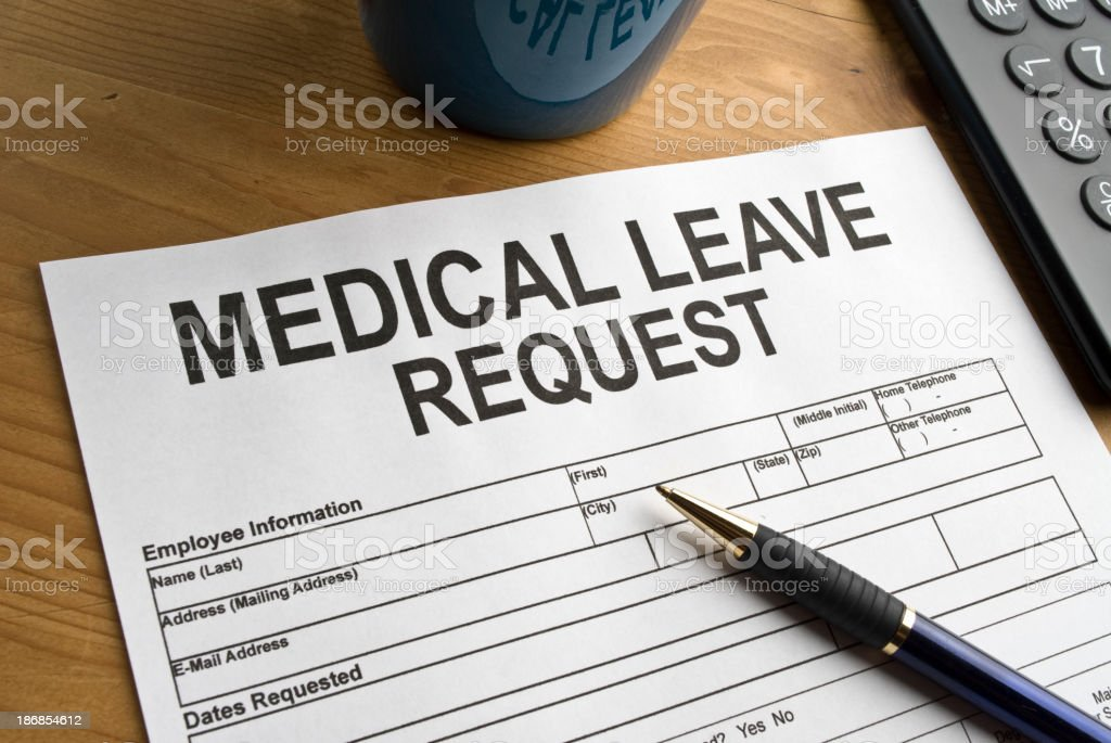 Request for a medical leave royalty-free stock photo