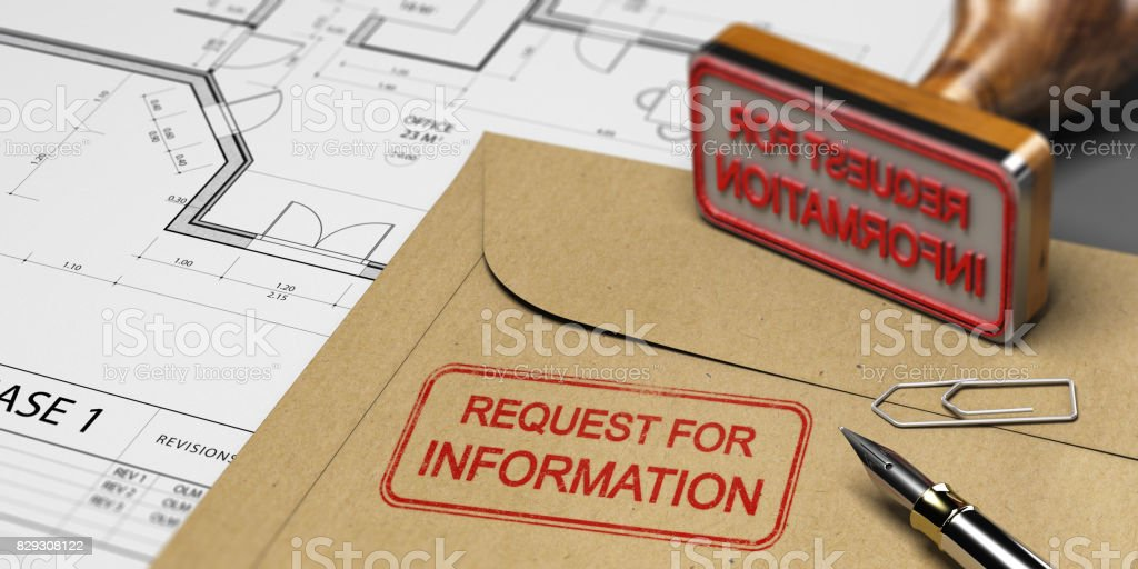 Request for Information in Construction, RFI stock photo
