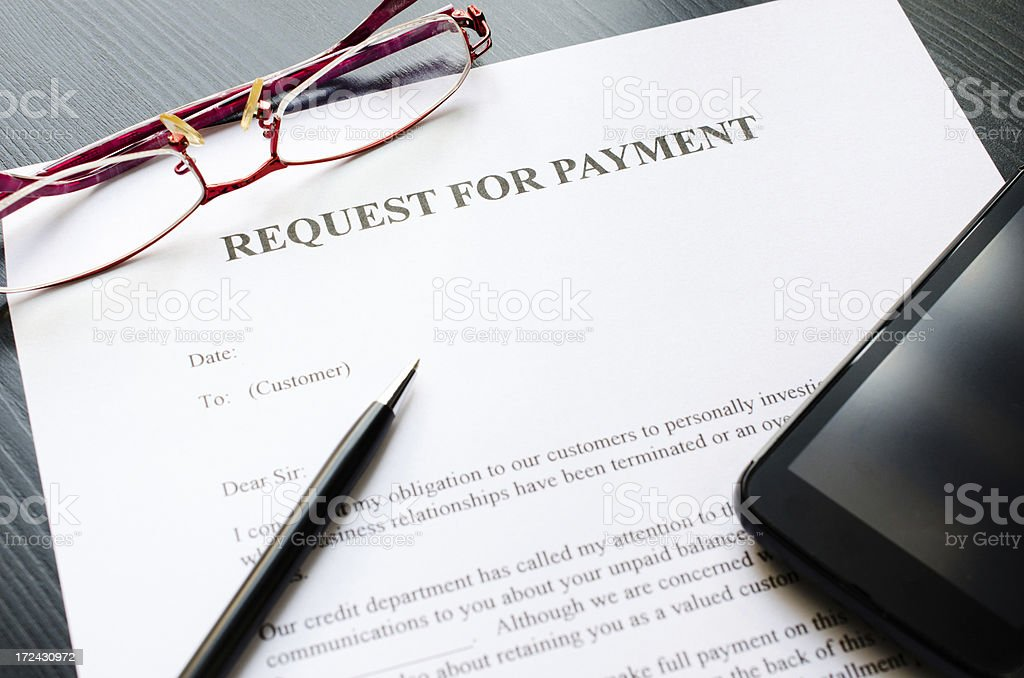 request for payment royalty-free stock photo