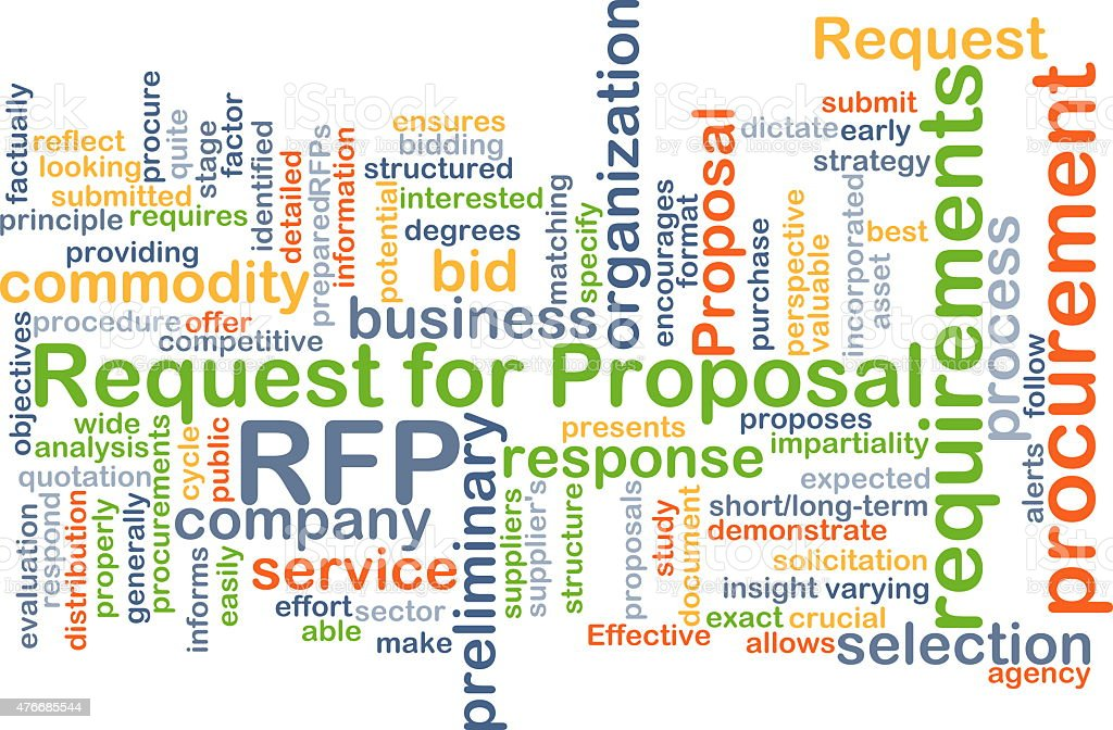 Request for proposal RFP background concept stock photo