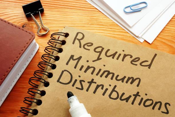Erforderliche Mindestverteilungen RMD-Satz auf der Seite. – Foto