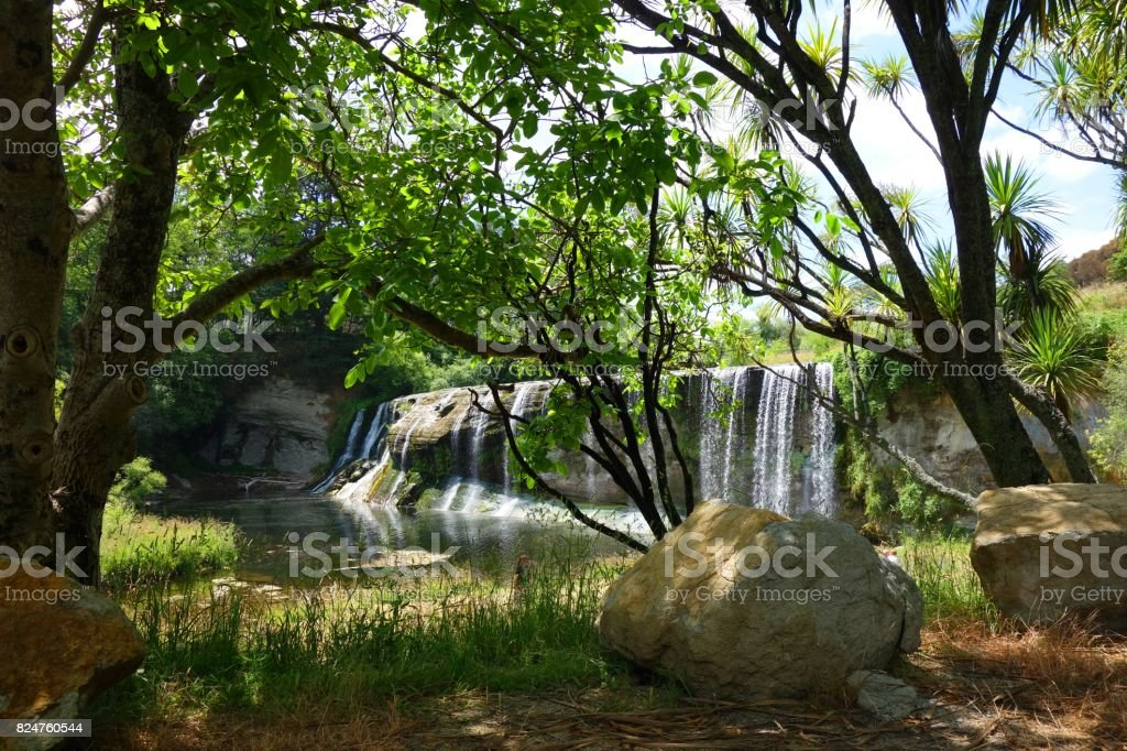 Rere Falls - New Zealand stock photo
