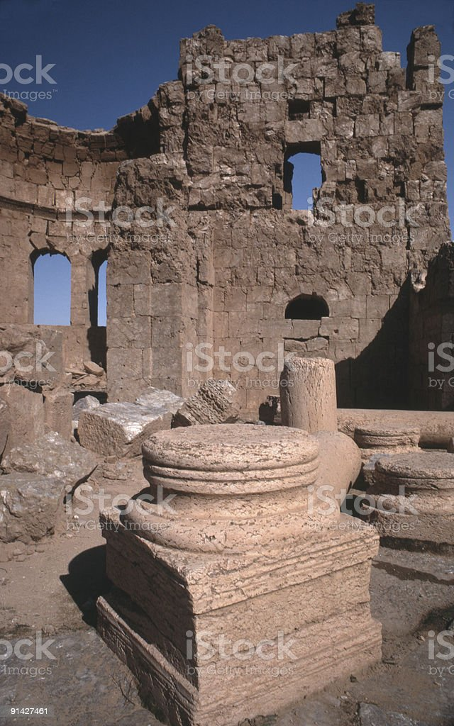 Resafa Syria stock photo